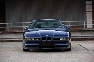 Картинка BMW Спереди Синяя Alpina 8-series B12 5.7 машина
