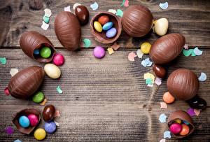 Картинки Шоколад Драже Яиц Шаблон поздравительной открытки Доски Еда