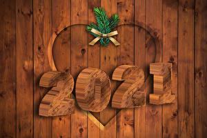 Обои Рождество 2021 Ветвь Бантики Доски Сердца