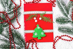 Фотография Новый год Ветвь Елка Снег Подарки