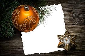 Обои Новый год Свечи Шар Ветки Доски Шаблон поздравительной открытки