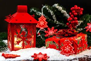 Картинки Рождество Свечи Подарки Елка
