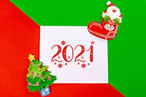 Картинки Новый год Лист бумаги 2021 Снежинки Новогодняя ёлка Сапоги Санта-Клаус