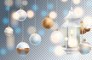 Картинка Рождество Векторная графика Свечи Шар