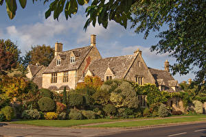 Картинки Англия Дома Село Кустов Chipping Campden, Cotswold District город