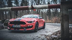 Обои Форд Красных Полоски Mustang Shelby GT350