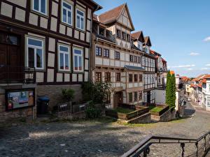 Фото Германия Дома Улица Blankenburg (Harz) город