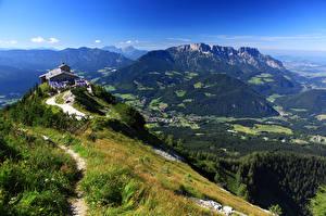 Картинки Германия Гора Бавария Альпы Obersalzberg Природа