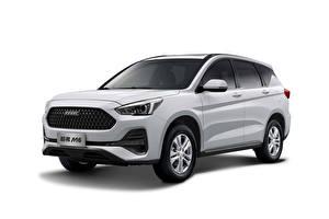 Обои Haval Белый CUV Китайский Белом фоне M6, 2019 Автомобили