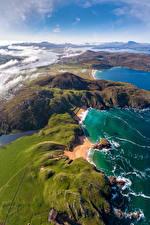 Картинки Ирландия Побережье Сверху Donegal, Melmore Природа