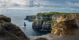 Фотография Ирландия Побережье Океан Скала Cliffs of Moher