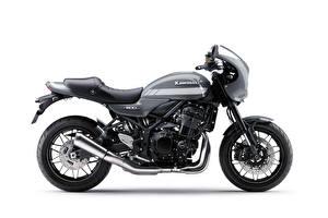 Картинка Kawasaki Серый Сбоку Белый фон Z900RS Cafe, 2018- - мотоцикл