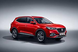 Картинки CUV Красные Металлик Гибридный автомобиль MG EHS Plug-in Hybrid, EU-spec, 2020 машины