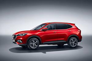 Картинки CUV Красные Металлик Гибридный автомобиль MG EHS Plug-in Hybrid, EU-spec, 2020 авто