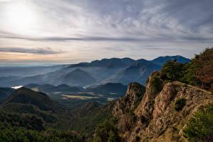Обои для рабочего стола Испания Гора Скале Catalonia Природа