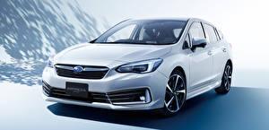 Картинки Subaru Белые Металлик 2019-20 Impreza Sport машина