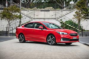 Обои Субару Красные Металлик 2020 Impreza 2.0i-S Sedan Автомобили