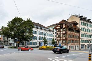 Обои Швейцария Здания Улица Lucerne город