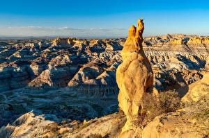 Обои для рабочего стола Штаты Каньоны Скалы Angel Peak, New Mexico Природа