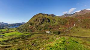 Фотографии Великобритания Горы Уэльс Snowdonia, North Wales Природа