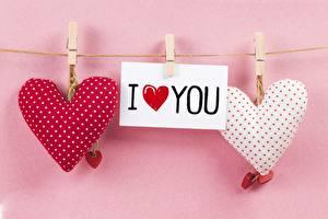 Фотография День святого Валентина Сердце Английский Слово - Надпись