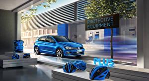 Фотографии Volkswagen Голубая 2019-20 Polo Plus Автомобили