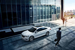 Обои Volkswagen Белые 2019-20 Sagitar 280 TSI автомобиль