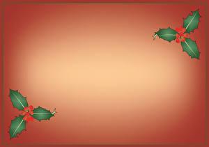 Картинка Ягоды Листья Цветной фон Шаблон поздравительной открытки