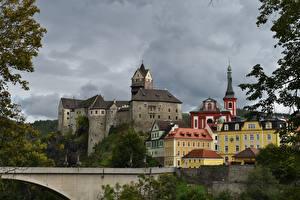 Картинка Замок Чехия Loket Castle, Karlovy Vary город