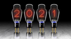 Обои для рабочего стола Новый год 2021 Лампочка