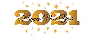 Фотографии Новый год 2021 Звездочки Слова Английская Белом фоне