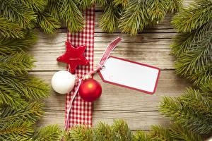 Фото Рождество Ветка Шарики Звездочки