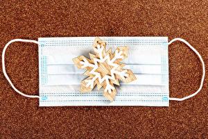 Картинки Рождество Коронавирус Маски Снежинки