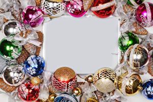 Обои Новый год Шаблон поздравительной открытки Шар Бант