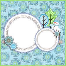 Фотография Рождество Узоры Снеговик Слова Английская Шаблон поздравительной открытки