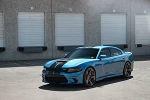 Картинка Dodge Голубые Charger SRT Performanc Bailys машина