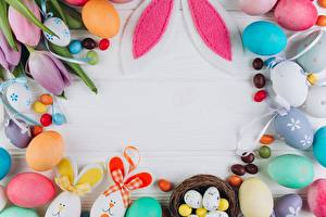 Фото Пасха Шаблон поздравительной открытки Яйца