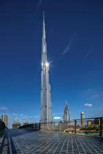 Фотография ОАЭ Здания Небоскребы Дубай Burj Khalifa