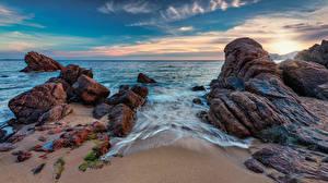 Картинка Франция Побережье Море Небо Утес Cannes La Bocca