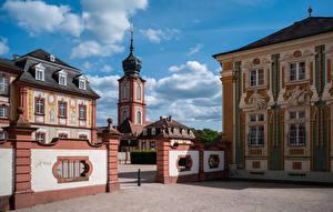 Фотографии Германия Здания Дворца Schloss Bruchsal Города