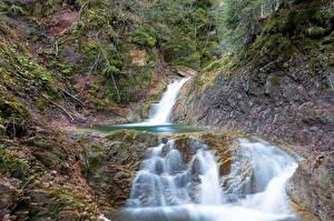 Фото Германия Водопады Бавария Природа