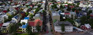 Картинки Исландия Дома Краши Улица Reykjavik Города