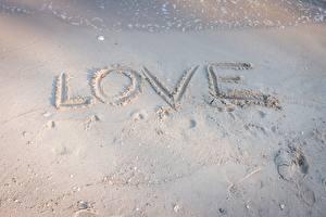 Фотография Любовь Английская Слово - Надпись Песок