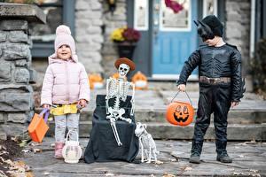 Фотография Маски Хеллоуин Мальчики Девочки Скелетов