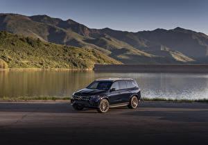 Фото Мерседес бенц SUV Синий Металлик 2020 GLS 580 4MATIC AMG Line Автомобили