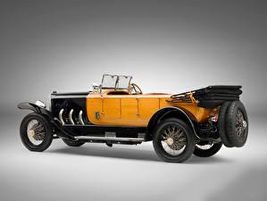 Картинки Мерседес бенц Винтаж Сбоку Серый фон 28/95 HP Sport Phaeton, 1924 авто