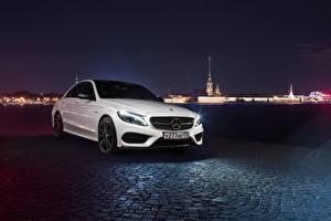 Фото Mercedes-Benz Белая Ночь c450 amg 43 Автомобили
