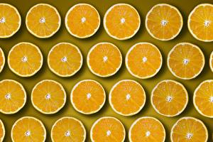 Обои Апельсин Много Текстура Круги Кусочек Оранжевых Еда