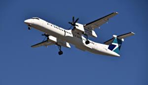 Картинка Самолеты Пассажирские Самолеты Bombardier, Q400, WestJet Airlines
