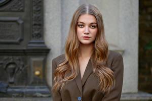 Обои Модель Волосы Смотрит Sophie молодые женщины